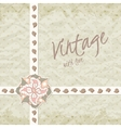 Vintage invitation with ornate detailed flower vector image