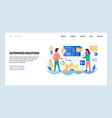 web site design template business project vector image vector image
