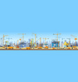 wide head banner of city skyline construction vector image vector image