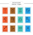 Zodiac signs icons for horoscopes predictions vector image vector image
