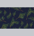 seamless pattern of pine christmas spruce new vector image