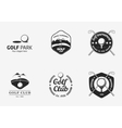Set of vintage black and white golf championship vector image