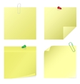 yellow notice stickers vector image