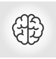 black line brain icon vector image