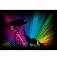 elephant rainbow background vector image