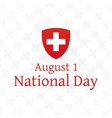 Swiss National Day poster vector image