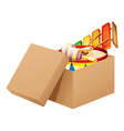 A cartoon full of toys vector image vector image