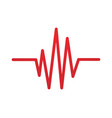 art design heartbeat pulse vector image vector image