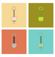 assembly flat icons kids toy shovel sand vector image vector image