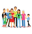big family mom dad kids and grandparents vector image vector image