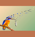 bird kingfisher on a branch with fish in its vector image vector image