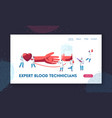 blood donation doctors and nurses in medical vector image vector image