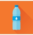 Bottle of Fresh Water Flat Icon vector image vector image