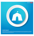 building icon abstract blue web sticker button vector image