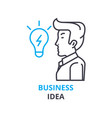 business idea concept outline icon linear sign vector image vector image