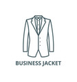 business jacket line icon business jacket vector image vector image