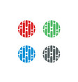 circle-logo-set vector image