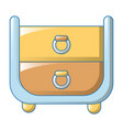 clothes drawers icon cartoon style vector image vector image