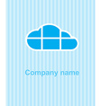 cloud on a blue striped background the cloud is vector image vector image