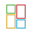 colored photo frame set vector image vector image