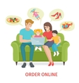 concept for online gifts ordering vector image vector image