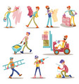 construction builders or workers men vector image