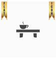 cup on the table icon vector image vector image