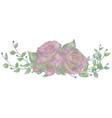 drawn watercolor flower rose vector image vector image
