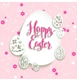 Easter eggs with pink background vector image vector image