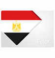 egyptian flag design background vector image vector image