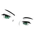 eye sketch vector image vector image