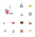 flat icons laundromat aqua housewife and other vector image vector image