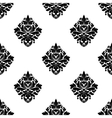 Floral arabesque motifs seamless pattern vector image vector image