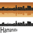 Hamamatsu skyline in orange vector image vector image