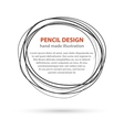 hand drawn black line circles logo design vector image vector image
