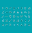icon set covid19 test line style vector image vector image