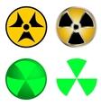 isolated symbols radiation vector image