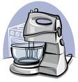 kitchen mixer vector image vector image