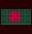 knitted flag new years background bangladesh vector image