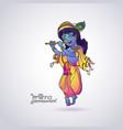 krishna janmashtami greeting card colorful vector image vector image