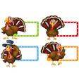 Label design with wild turkey vector image vector image