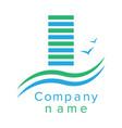 logo for a construction company vector image vector image
