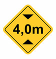 maximum height traffic sign vector image