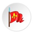 Medieval knight flag icon cartoon style vector image vector image