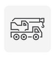 mobile crane icon vector image