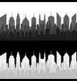 monochrome cityscapes horizontal banners vector image