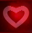 neon icon heart vector image vector image