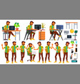 office worker indian emotions various vector image vector image