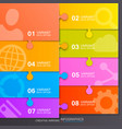 option puzzle infographics vector image