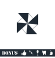 Paper windmill icon flat vector image